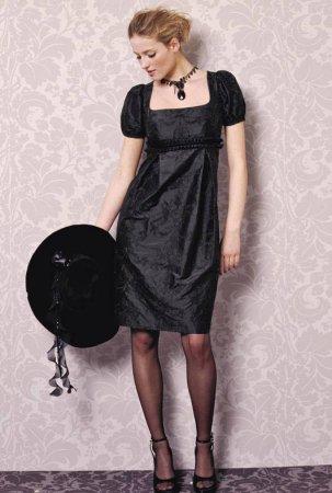 Выкройка платья. Элегантное черное платье.