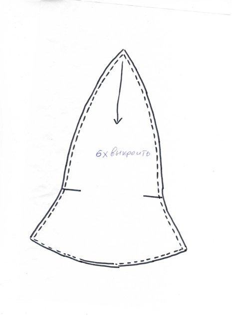 N.Lupin. да на здоровье Я брала вот такую выкройку, выкраиваем шесть деталек и сшиваем.