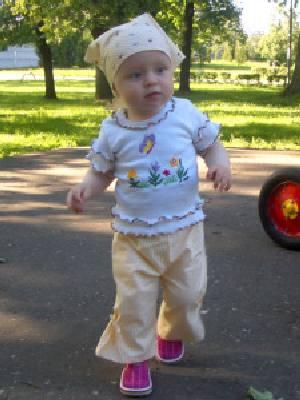 Выкройка летних брюк на ребенка.