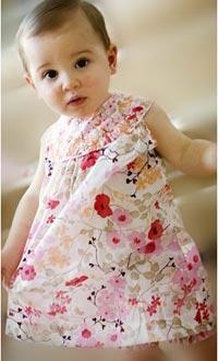 Выкройка детского платья для девочки.