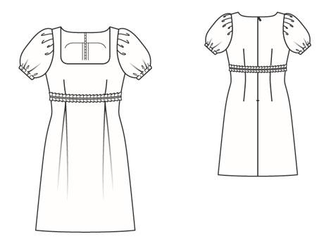 Выкройка платья элегантное черное