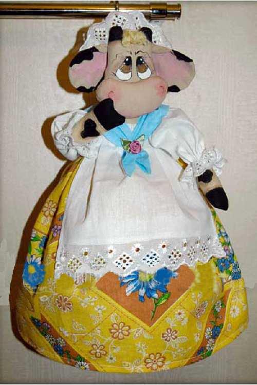 Выкройка игрушки Корова Настурция