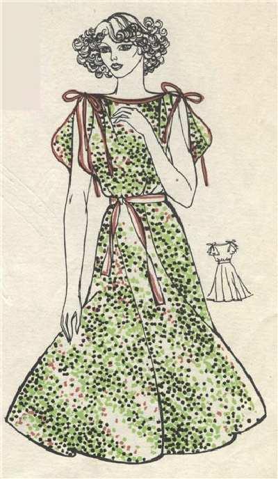 Шелковое платье. Выкройка.