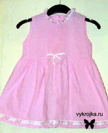 Выкройка летнего платья для девочки.