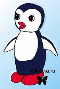 """Выкройка детской игрушки """"Пингвинчик"""""""