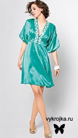 Выкройка платья для коктейлей