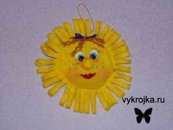 Выкройка яркая мягкая игрушка «Солнышко»