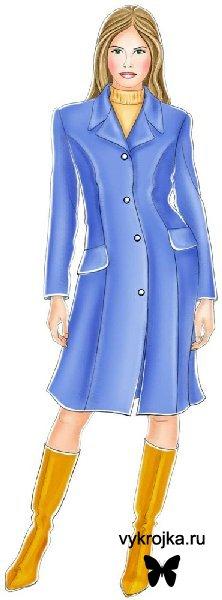 """Выкройка """"голубое пальто"""""""
