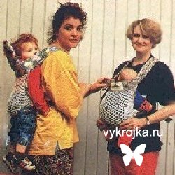 """Выкройка """"сумка - кенгуру"""" для ребенка"""