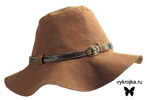 Выкройка шляпки для модниц