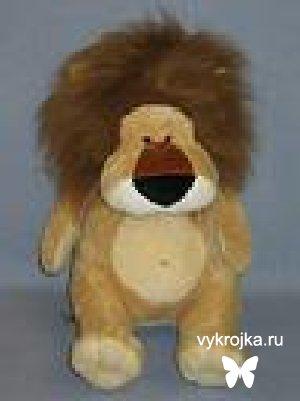 Выкройка игрушки льва