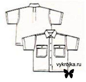 Выкройка сорочки для мальчика на 1,5 – 2 года