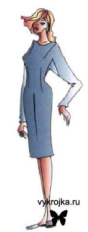 Выкройка платья кимоно с ластовицей