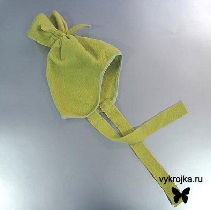 Выкройка шапочки из флиса с закрытыми ушками