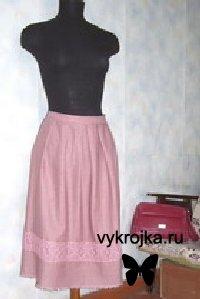 Выкройка льняной юбки