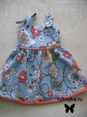 Выкройка платья для новорожденной красавицы
