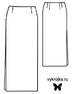 Сшить юбку прямую с разрезами по бокам