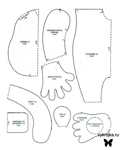 Расширители на гЗверюшки своими руками выкройки