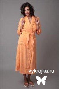 Выкройка махрового женского халата