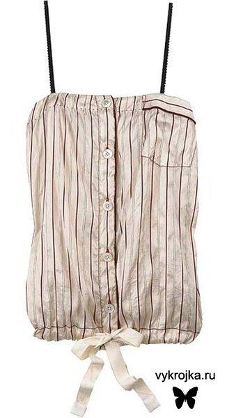 Выкройка летнего блузона