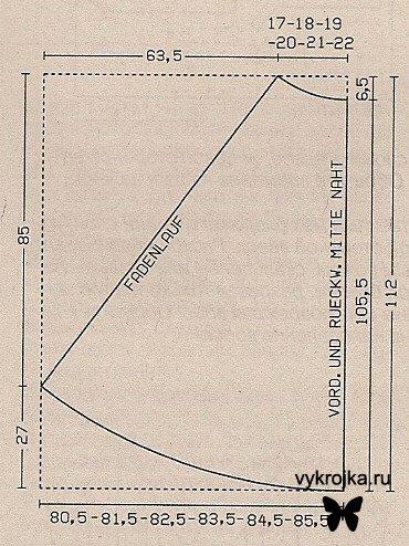 выкройка длинной юбки, Вязание журналы 2010