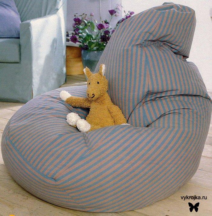Выкройка кресла-подушки.  Комментарии.