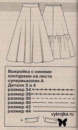 Выкройка Вечернее платье