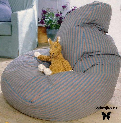 Выкройка кресла-подушки