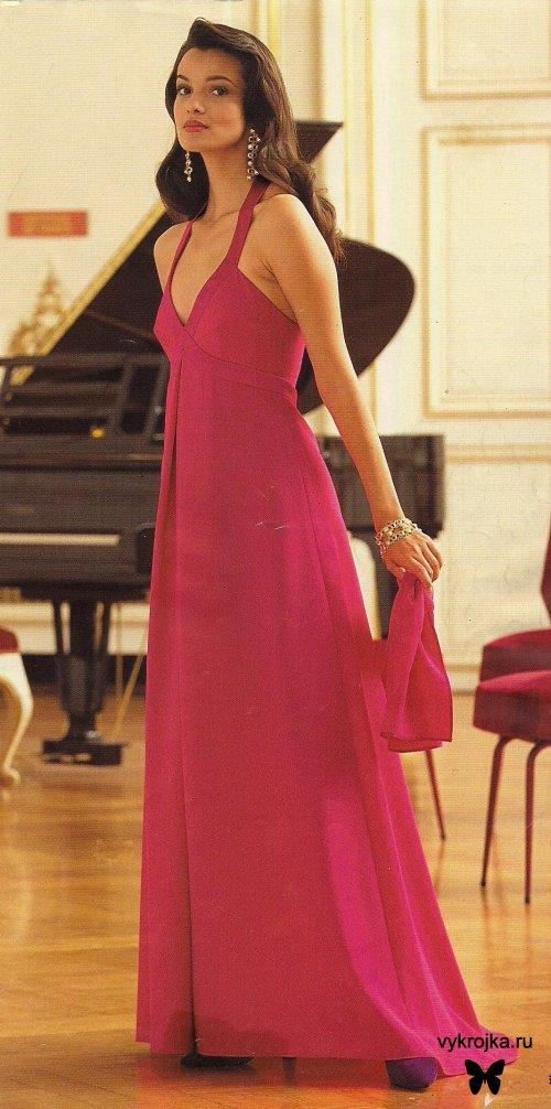 красные длинные платья