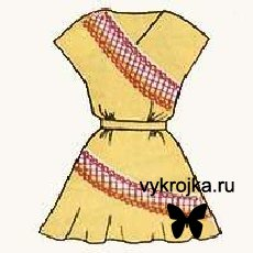 Выкройка летнего платья