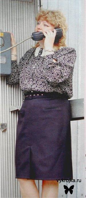 Выкройка классическая юбка для дам с королевским размером