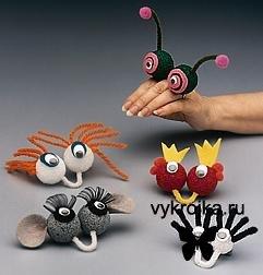 Выкройка необычные игрушки - пальчики.