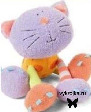 Выкройка игрушки кот