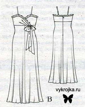 Выкройка платья в стиле ампир