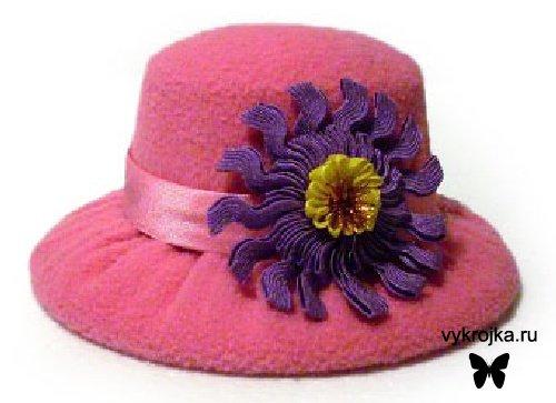 Выкройка шляпки игольницы