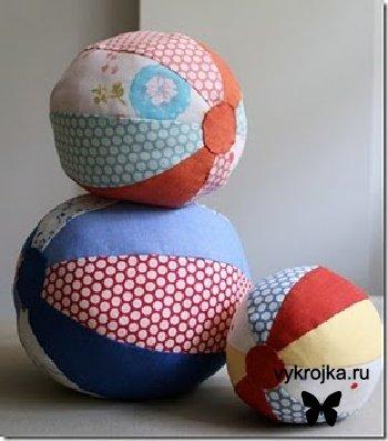 Выкройка мягкий мячик для малыша