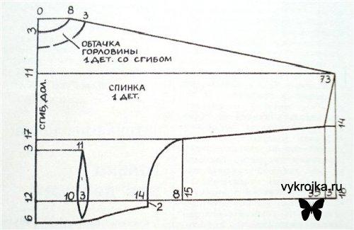 Выкройка жакета со спереди завязывающийся бантом