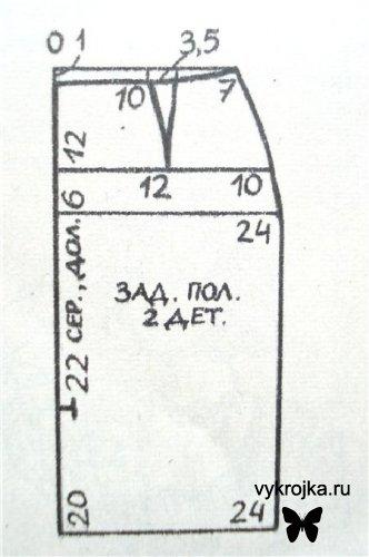 Выкройка Элегантная юбка прямого покроя