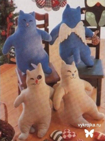 Выкройка кота-подушки
