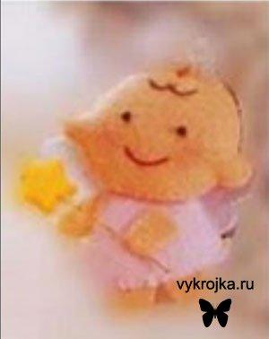 Выкройка игрушки «куколка-фея»