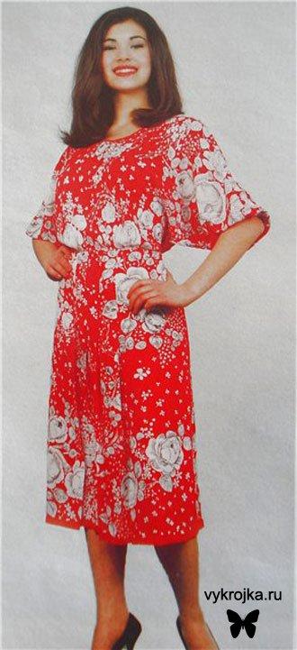 Выкройка домашнее платье
