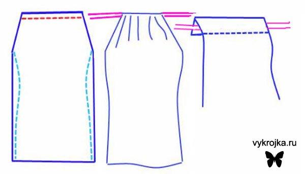 Выкройка пляжного платья на