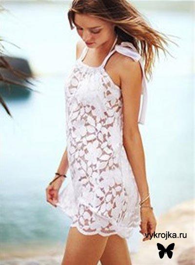 Выкройка пляжного платья на завязке