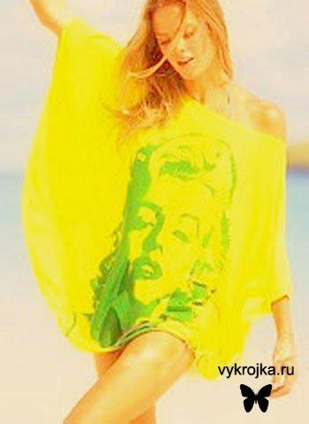 Выкройка пляжного платья