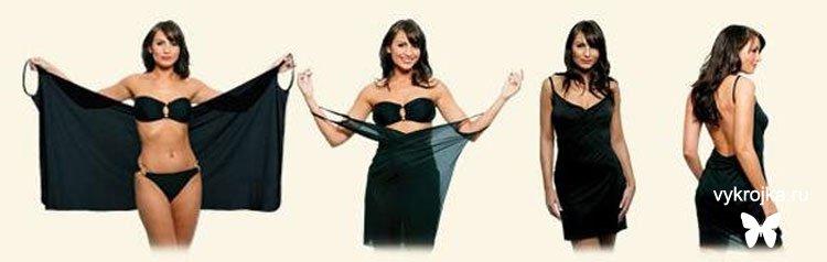 Платье для полных своими руками быстро