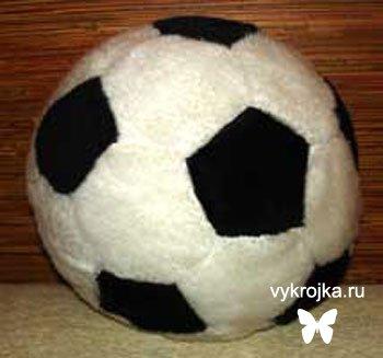 Выкройка подушки «футбольный мяч»