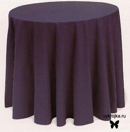 Выкройка скатерти на круглый стол