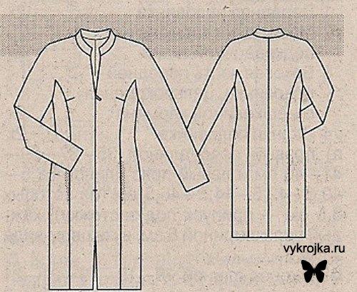 Схема вязания платья реглан