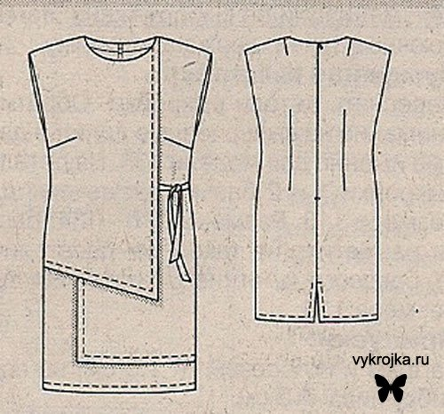 Выкройка платья-фартука для