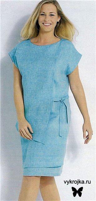 Скачать бесплатно выкройку платья с рукавом для полных